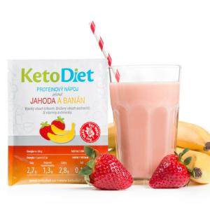KETODIET Proteinový nápoj s příchutí jahoda a banán 7 porcí