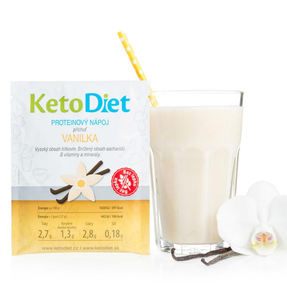KetoDiet Proteinový nápoj 1 týden (7 porcí)