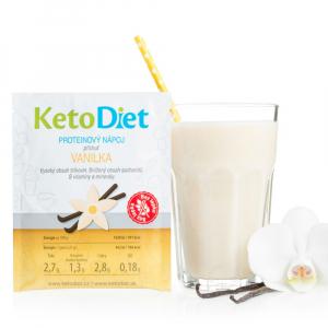 KETODIET Proteinový nápoj s příchutí vanilka 7 porcí
