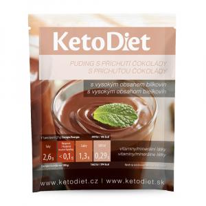 KETODIET Proteinový pudink s čokoládovou příchutí 7 porcí