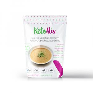 KETOMIX Proteinová polévka s příchutí zeleniny 10 porcí