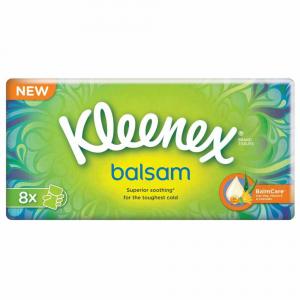 KLEENEX Balzámové papírové kapesníky 8x9 ks
