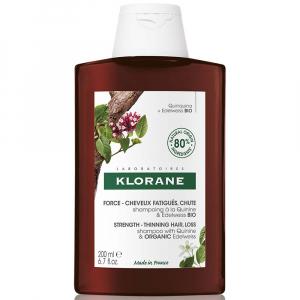 KLORANE Šampon s chininem a BIO protěží alpskou 200 ml