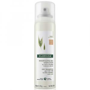 KLORANE Suchý šampon s ovesným mlékem pro hnědé vlasy 150 ml