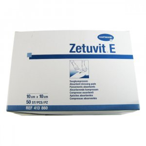 Kompres Zetuvit E nesterilní 10 x 10 cm/50 ks