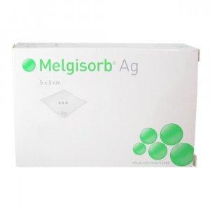 Krytí Melgisorb Ag 5x5cm absorpční alginát.sterilní 10ks
