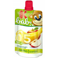 KUBÍK Baby Ovocná kapsička Jablko-Banán 120 g