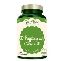 GREENFOOD NUTRITION L-tryptophan + vitamin B6 90 kapslí