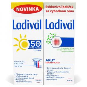 LADIVAL Duo Akut Sérum po opalování 50 ml + Gel pro alergickou pokožku obličeje OF50+ 50 ml