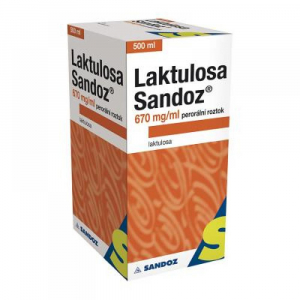 LAKTULOSA SANDOZ 670 mg/ml Roztok 500 ml/335 g IIA