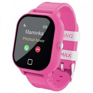 LAMAX WatchY2 Pink dětské chytré hodinky s GPS růžové