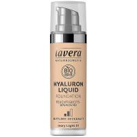 LAVERA Lehký tekutý make-up skyselinou hyaluronovou – 01 porcelánová 30 ml