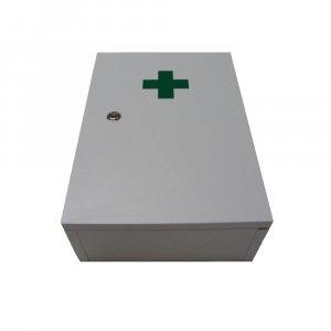 STERIWUND Lékárnička nástěnná dřevěná bílá do 30 osob