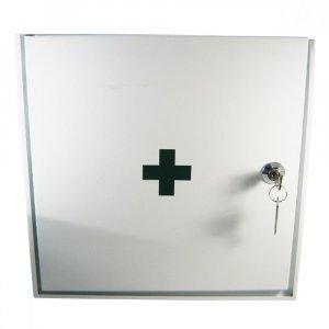 Lékárnička nástěnná kovová 30x30x15 -prázdná