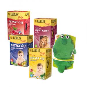LEROS Baby dětské čaje 4x 20 sáčků + ŽÍNKA s maňáskem