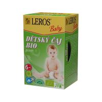 LEROS BABY Dětský čaj bylinný 20 sáčků BIO