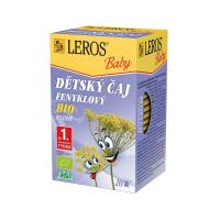 LEROS BABY Dětský čaj fenyklový 20 sáčků BIO