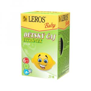 LEROS BABY Dětský čaj Citrónek 20 sáčků