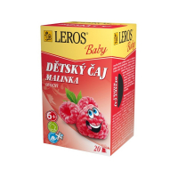 LEROS BABY Dětský čaj Malinka 20 sáčků