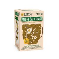 LEROS Čajovna Zelený čaj&Ginkgo 20 sáčků