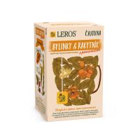 LEROS Čajovna Bylinky a rakytník s pomerančem 20 sáčků