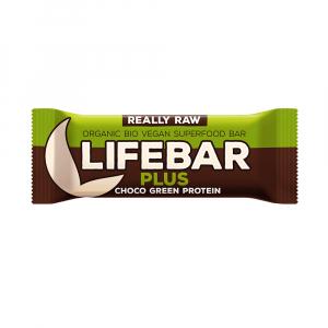 LIFEFOOD Lifebar Plus čokoláda a konopný protein BIO 47g