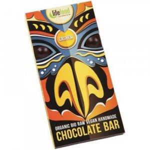 LIFEFOOD čokoláda s kousky kešu ořechy BIO 70 g