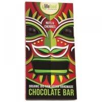 LIFEFOOD čokoláda s kousky ořechů a třešní BIO 70 g