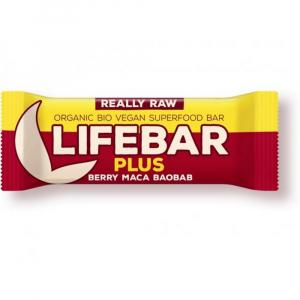 LIFEFOOD Lifebar plus třešňová s macou a baobabem BIO 47 g