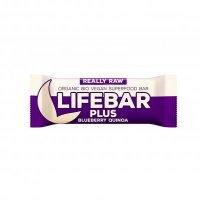 LIFEFOOD Lifebar Plus tyčinka borůvková quinoa BIO 47 g