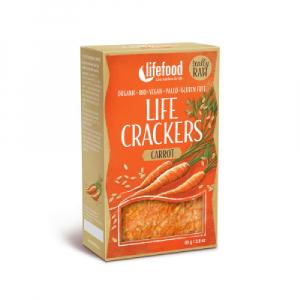 LIFEFOOD Life crackers Mrkvánky 80 g BIO