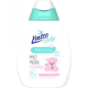 LINTEO Baby Mycí mléko a šampon s Bio měsíčkem lékařským 250 ml