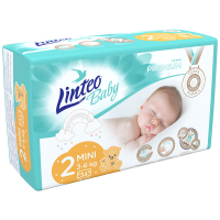 LINTEO Baby Premium Dětské plenky MINI 3-6kg 34 ks