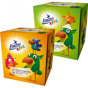 LINTEO Kids Papírové kapesníky 2-vrstvé BOX 80 ks