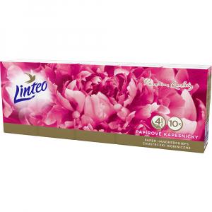 LINTEO Premium Papírové kapesníky 4-vrstvé 10x10 ks