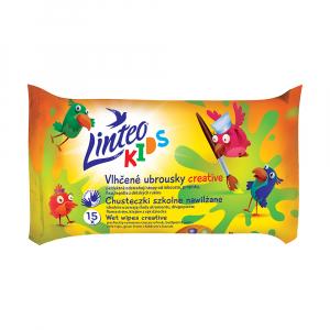 LINTEO Kids Vlhčené ubrousky Creative 15 ks