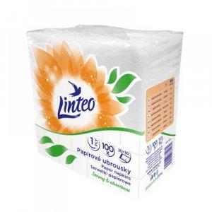 LINTEO Papírové ubrousky 1-vrstvé 30x30 cm 100 kusů