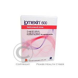 LOMEXIN 600  2X600MG Poševní tobolky