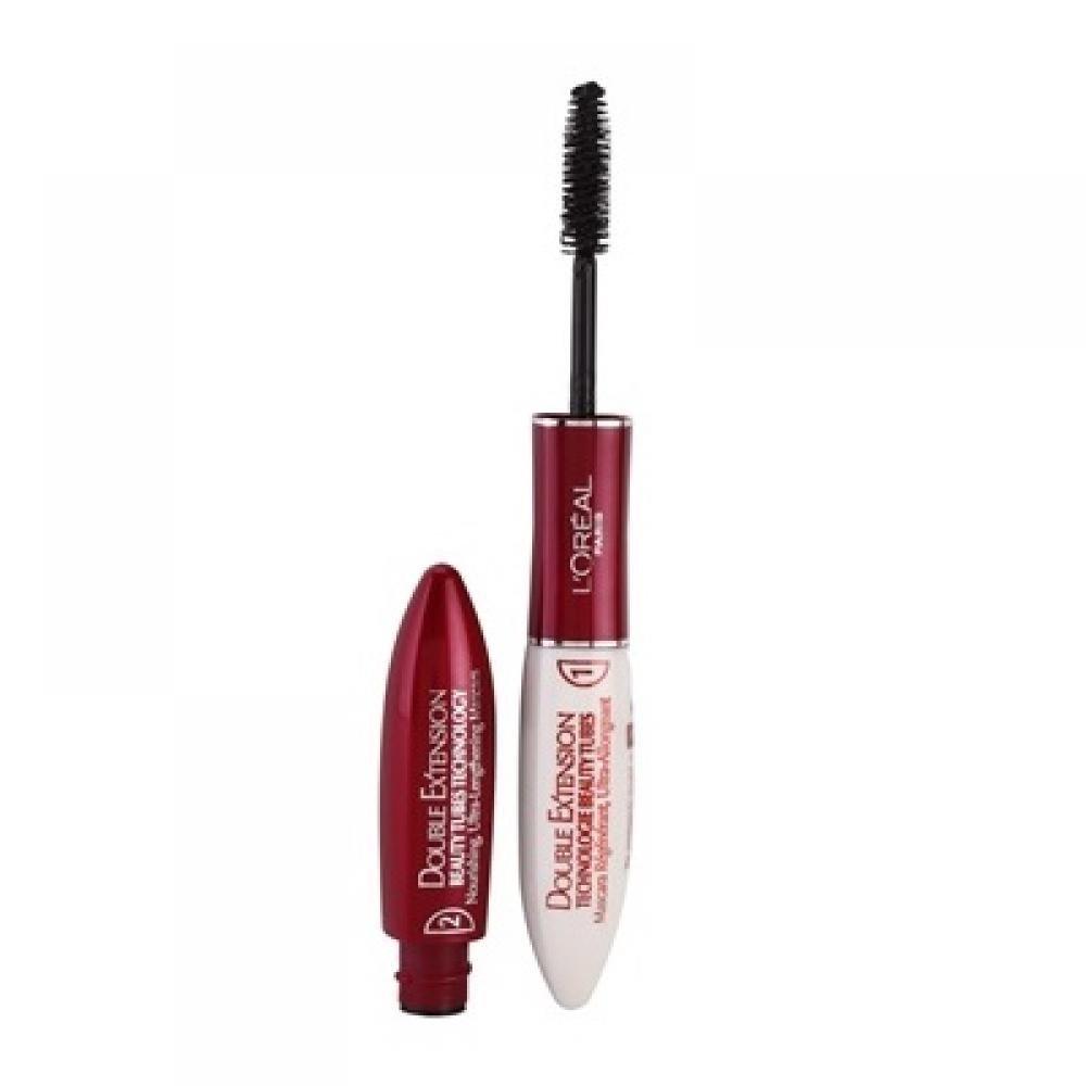 L´Oreal Paris Double Extension Beauty Tubes Black Mascara 14ml 7ml Double Extension