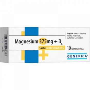 GENERICA Magnesium citrát 375 mg + B6 forte + Vitamin C 10 šumivých tablet