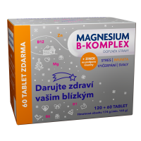 GLENMARK Magnesium B-komplex VÁNOCE 120 + 60 tablet ZDARMA