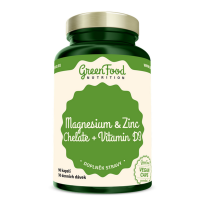 GREENFOOD NUTRITION Hořčík a zinek cheláty + vitamin D3 90 kapslí