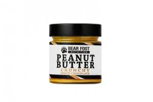 BEAR FOOT Peanut Butter, arašídový krém s bílou čokoládou a kousky arašídů, 250 g
