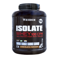 WEIDER Syrovátkový isolát ISOLATE WHEY 100 CFM 100%,  2kg, příchuť čokoládový fondán