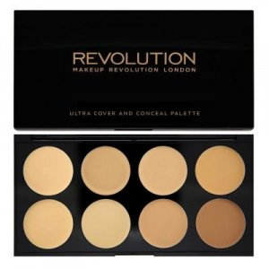 Makeup Revolution Ultra Cover and Concealer Palette Light - Medium - paletka korektorů