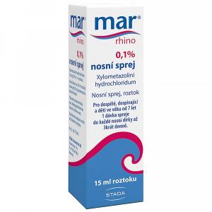 MAR RHINO 0,1% Nosní sprej 15 ml / 15 mg
