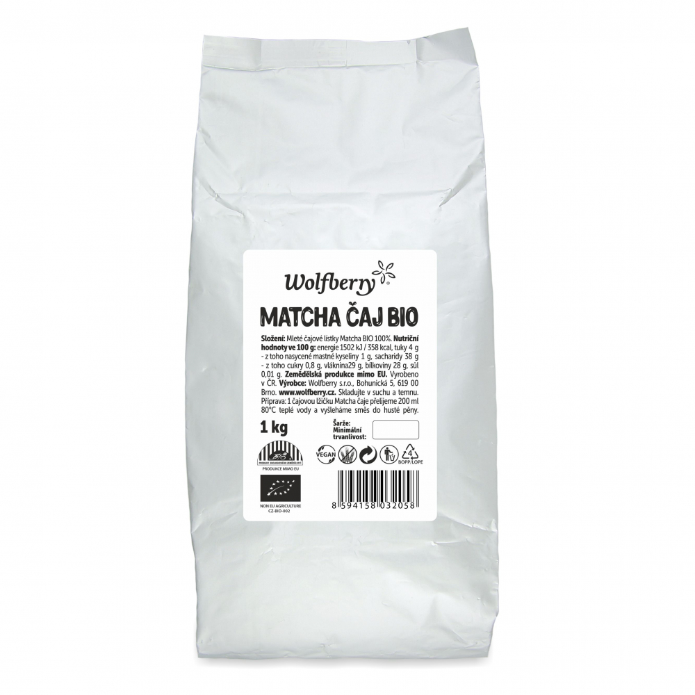 WOLFBERRY Matcha čaj 1000 g BIO