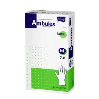 MATOPAT Ambulex rukavice latexové jemně pudrované M 100 kusů