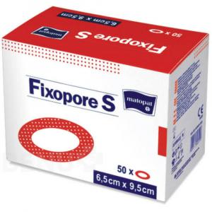 MATOPAT Fixopore S sterilní náplast ovál 6,5 x 9,5cm 50 kusů