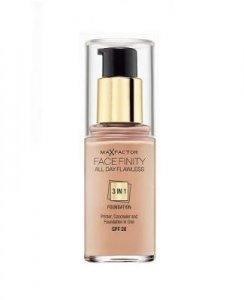 Max Factor Face Finity 3in1 Foundation SPF20 30ml 45 Warm Almond